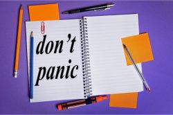 Don't panic word
